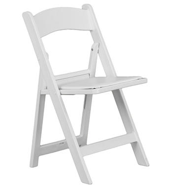 Hercules - Resin Folding Chair, White - 40 Pack
