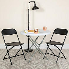 Hercules Premium Folding Chair, Black