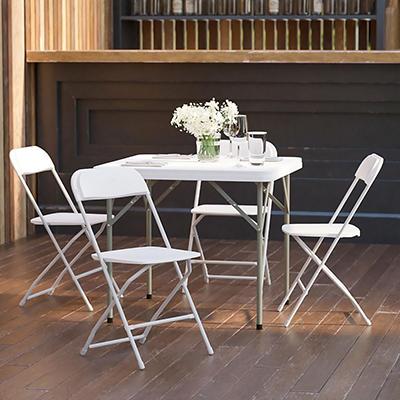 Hercules Premium Folding Chair, White