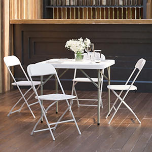 Hercules Premium Folding Chair, White