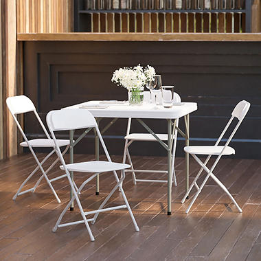Hercules - Premium White Folding Chair - 4 Pack