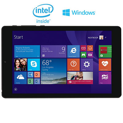 "8"" Nextbook Quad Core Windows 8.1 Tablet - 16GB w/ Intel Atom Z3735G Processor"