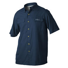 Habit Vented River Short-Sleeved Shirt, Blue - Choose Your Size