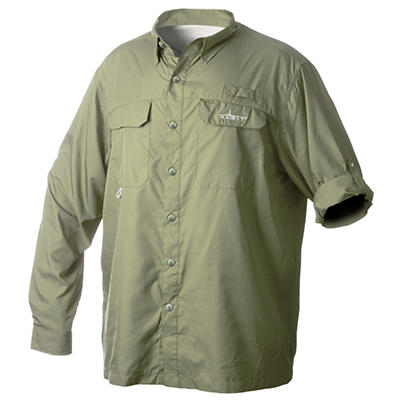 Habit Vented River Long-Sleeved Shirt, Olive - Choose Your Size