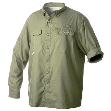 Habit Vented River Long-Sleeved Shirt, Olive - Choose Your Size