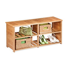 Honey-Can-Do Shoe Bench (Bamboo)