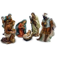 7-Piece Large Scale Nativity Scene Set