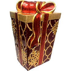Decorative Gift Box With Fiber Optic Lights - 22""