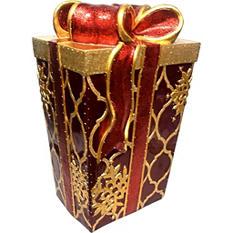 "Decorative Gift Box With Fiber Optic Lights - 22"""