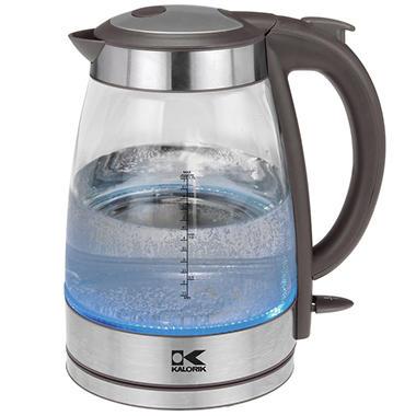 Kalorik 1.7 Liter Glass Water Kettle - Assorted Colors