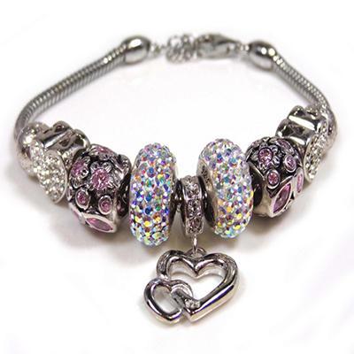 """""""I Love You"""" Crystal Bracelet"""
