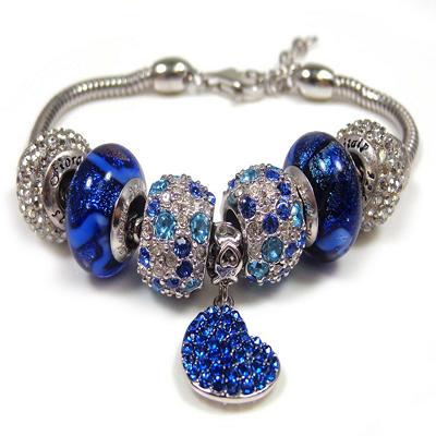 Blue Crystal/Murano Bracelet