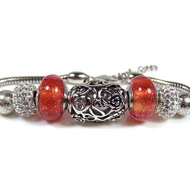 925 BEAD BRACELET U OF TEXAS