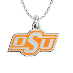 Fiora Oklahoma State Sterling Silver Logo Necklace