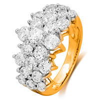 Click here for 3.00 ct. t.w. Round Cut Diamond Firework Engagemen... prices