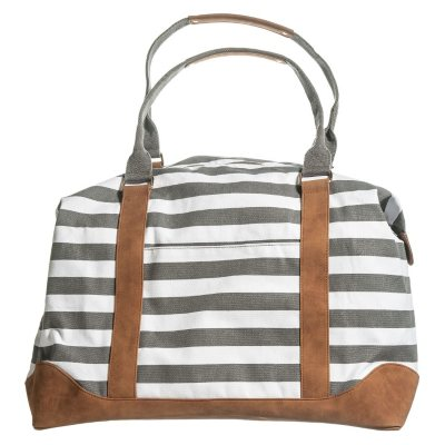 Vintage Nautical Striped Weekender
