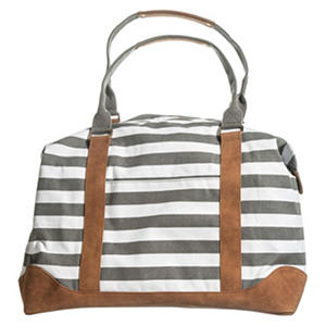 Vintage Nautical Striped Large Weekender Handbag (Choice of Color)