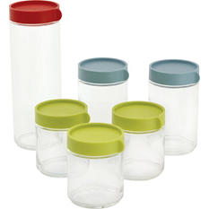 Glasslock Round Block Canisters, 12-Piece Set