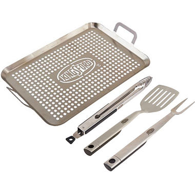 Backyard Classic Professional Forged Stainless Steel 2 pc. Tool Set