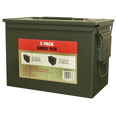 Ammo Boxes - .30 Caliber & .50 Caliber Sized (2 pack)
