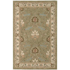 Nourison Worcester Wool Rug, Sage (Assorted Sizes)