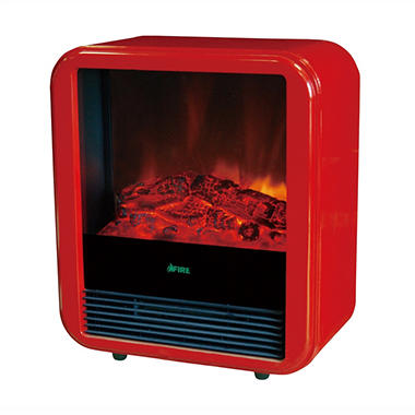 Lauren Wells Compact Indoor Fireplace - Red