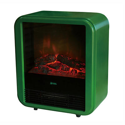 Lauren Wells Compact Indoor Fireplace - Green