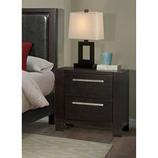 Lydia Nightstand with Power Strip and 2 USB Ports