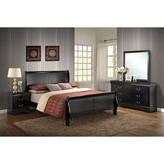 Bellamy Black Bedroom Set (Choose your size)