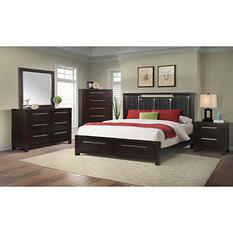 Lydia Platform Storage Bed Bedroom Set (Assorted Sizes)