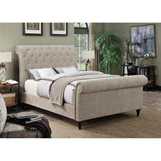 Adrienne Upholstered Sleigh Bed (Assorted Sizes)