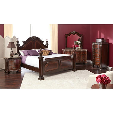 Victoria Poster Bed And Bedroom Furniture Set Assorted