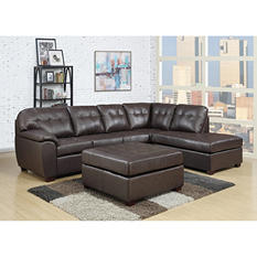 Calvin 3-Piece Leather Sectional Sofa (Assorted Colors)