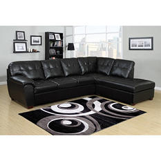 Calvin 2-Piece Leather Sectional Sofa (Assorted Colors)