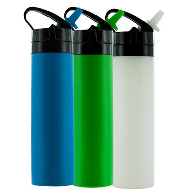 The Squeez Silicone 3 Pack Water Bottle