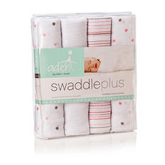 aden by aden + anais Swaddleplus Blanket, Girl, 4-pk. (Choose Your Color)