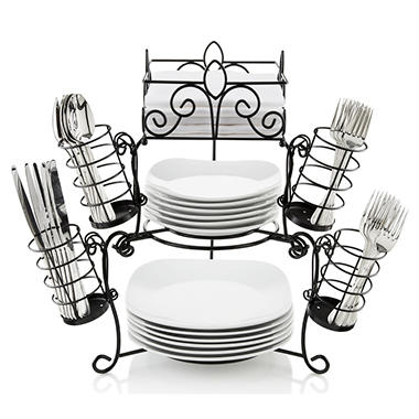 7 PIECE BUFFET CADDY STACK & SERVE