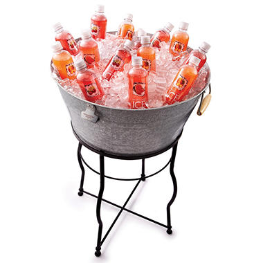 Galvanized Chill Tub Set with Flared Leg Stand