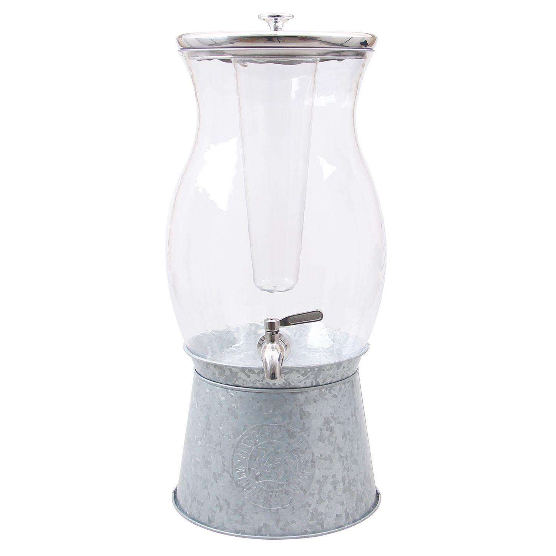 Wid Hei Fmt Qlt 80 Galvanized Metal Drink Dispenser Stand