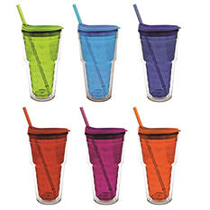 Double-Wall Sipper Tumblers, Set of 6