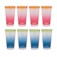 Fiesta Tumblers, Set of 8