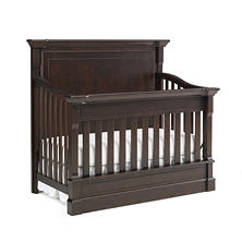 Dolce Babi Roma Full Panel 4-in-1 Convertible Crib, Dark Roast