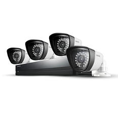 Samsung 4 Channel 960H Security System w/ 500GB Hard Drive, 4 720TVL Weatherproof Cameras, and 82' Night Vision