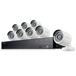 Samsung 8 Channel 1080p All-in-One Security System with 1TB Hard Drive and 8 1080p Bullet Cameras with 82' Night Vision