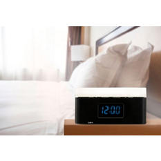 BEM Wireless Bedside Speaker Clock with Light - Various Colors