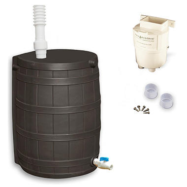 RainReserve Complete Rain Barrel and Diverter Package