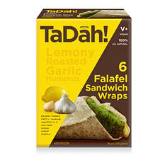 Tadah! Lemony Roasted Garlic Hummus Falafel Wrap (45 oz., 6 ct.)