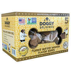 Wet Noses Doggy Delirious Dog Treats, Peanut Butter Bones (5 lbs.)
