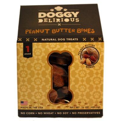Doggy Delirious Dog Treats - Peanut Butter Bones