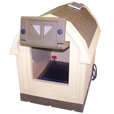 ASL Solutions Deluxe Dog Palace Large Doghouse - Includes Heater and Fan